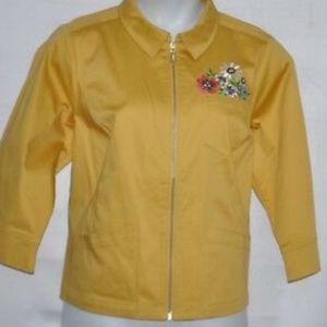 Bob Mackie Plus Flower Art Jacket New With Tags